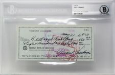 Vince Lombardi Autographed & Hand Written Green Bay Check HOF Packers Legend!