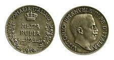 pcc1837_17) Vittorio Emanuele III (1900-1943) SOMALIA Mezza Rupia 1919 TONED