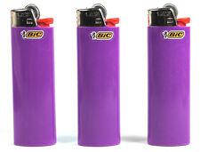 3 Purple Bic Lighters - Standard Size Purple Violet Bic Lighters