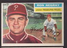 1956 TOPPS #7 RON NEGRAY VINTAGE SIGNED CARD PHILLIES PSA DNA GUARANTEE