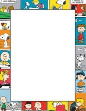 NEW Charlie Brown Characters Stationery Printer Paper 26 Sheets