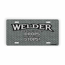 """Welder Quote Novelty License Plate for Automobile  6"""" x 12"""" Patchlife Canada"""