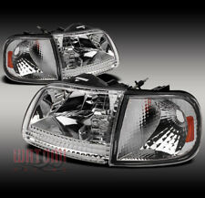 97-03 FORD F-150/97-02 EXPEDITION CRYSTAL HEAD LIGHTS+CORNER SIGNAL CHROME/AMBER