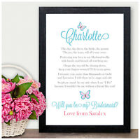 Will You Be My Bridesmaid? Personalised Gifts Presents Flower Girl Maid Honour