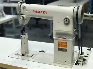 Yamata GC/FY-810 Sewing Machine,Post Bed,Roller feed lamp Servo Motor+Table.DiY
