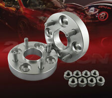 "2pc 25mm (1"") Thick 4x100 Hub Centric Wheel Adapters Spacers M12x1.5 54.1mm"