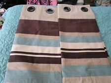 lined tab top curtains new