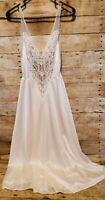 "Vintage 1980s OLGA Nightgown Ivory Bridal Lingerie 80s 125"" Sweep White 91140 M"
