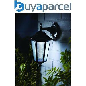 Gardman L26414 Motion Sensor Black Uffington Lantern Wall Solar Light
