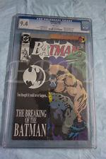 BATMAN 497 DC CGC GRADED 9.4 WHITE PAGES KNIGHTFALL 11 BREAKING OF THE BATMAN