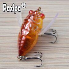 Lot 1x Cicada Fishing Lures Topwater Bass Crank Bait Bream Fishing Treble Hooks