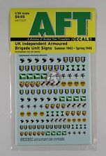 Archer 1/35 UK Independent Armoured Brigade Unit Signs (1943 - 1945) AR77027
