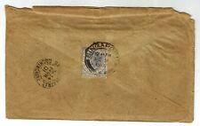 Singapore Vietnam 1901 RARE cover to Saigon Cochinchine (Cochin China), with QV