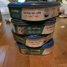 New listing Wellap 4-Pack Cat Litter Disposal System Refills.7 Layer Bags.New,
