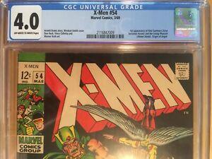 Marvel Comic 1969 X-MEN #54 CGC 4.0 1st app. Alex Summers Later becomes Havok