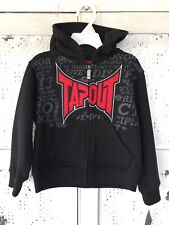 Tapout black Zip-up Hoodie Jacket with front pockets 3T / NWT