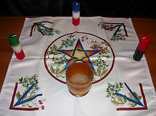 Wicca Altar Cloth Blooming Pentalpha