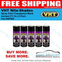 VHT Nite-Shades Spray Paint Transparent Black Aerosol SP999 (11 Oz.) 5-Pack