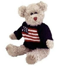 "TY GRANT LET FREEDOM RING AMERICAN FLAG ATTIC TREASURES 13"" STUFFED TEDDY BEAR!"