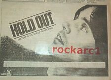 JACKSON BROWNE Hold Out 1980 UK Press ADVERT 12x8 inches
