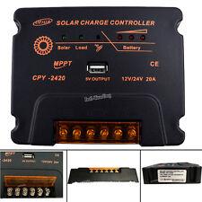Intelligent 20A MPPT Solar Charge Controller 12V 24V USB Battery Panel Regulator
