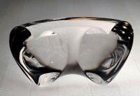 STEUBEN Glass TRUE LOVE   Signed Lead Crystal Heart Art Valentines Day   Mehlman