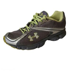 Under Armour UA Prophet 2 Running Shoes Sneakers Womens Size 8.5 Gray Green Lace
