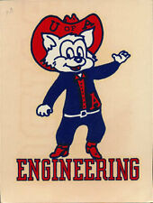University of Arizona Original 1940's Decal VTG Wildcats RARE Engineering Mascot