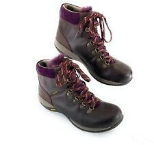 Dansko Hiking Leather Boots Mid Shearling Tongue Purple Women's 40 EUR 9.5-10 US