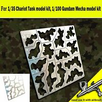 1/35 1/100Forest Camouflage Leakage Spray Plate AJ0032 for Gundam Military Model