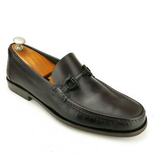 Salvatore Ferragamo Brown Calf Gancio Bit Loafers 9.5 D