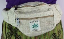 Hippie Eco Rucksack THC Free Hemp Fanny Pack Travel Waist Bum BAG HANDMADE Nepal