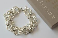 Silpada NEW Heavy Sterling Silver Double Link Leadership Bracelet HTF