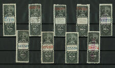 Canada - 1887 Revenue Issued Stamps