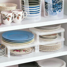 PLASTIC DISH PLATE DRY RACK ORGANIZER HOLDER DRAINER KITCHEN FOLDABLE STORAGE NT