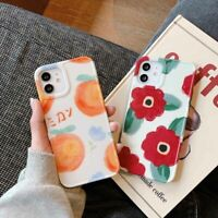 Oil Painting Red Flowers Oranges Case Cover For Apple iPhone 12 11 Pro Max XR XS