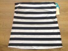 BNWT Size 16 Ladies Black/White Striped Boobtube / Strapless Top. NEW