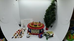 Vintage Avon Advent Tree Music Box Christmas Lights Angel OrnamentsCOMPLETE!