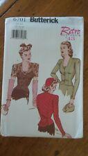 Butterick Retro 1943 Pattern #6701, Misses' Petite Blouse, Sz 12-14-16
