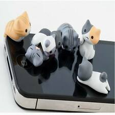 6pcs Cheese Cat 3.5mm Anti Dust Earphone Jack Plug Stopper Cap For Cell phone