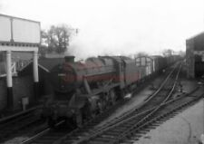 PHOTO  LMS 48463 ON A FITTED FREIGHT AT ABERGAVENNY JUNCTION IN 1958