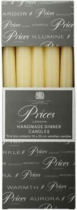 Price's Candles Dinner Candle, Pack of 10, Ivory