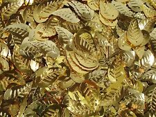 Sequins Leaves Metallic Soft Gold 25g Craft Leaf Christmas Decor FREE POSTAGE