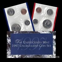 1997 P+D U.S. Mint Set ~ Kennedy Washington Roosevelt Jefferson Lincoln US Coins