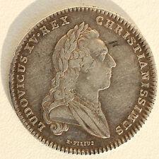 JETON DE PRESENCE DES ETATS DE BRETAGNE - ARGENT - LOUIS XV - 1768 - 6,6 g