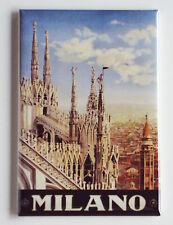 Milan Italy Fridge Magnet (2.5 x 3.5 inches) travel poster milano
