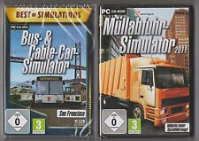 Bus - & Cable-car-Simulateur + ramassage des ordures 2011 Collection Jeux PC