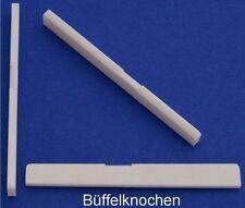 Knochen Stegeinlage, L=80 mm, g-Saite kompensiert, Typ BK-06