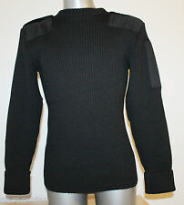 Mens ESKIMO Sweater Jumper Army NORWAY Nordic Black 100% WOOL Like New!! Size M