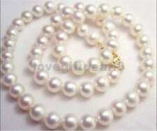 9-10MM NATURAL WHITE SOUTH SEA AAA+ PEARL NECKLACE 20INCH 14k